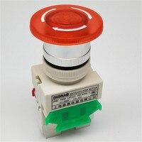 Аварийный светильник Мощность 22 мм переключатели с грибовидной головкой вкл/выкл кнопочные выключатели со светодиодным переключателем Lay37...