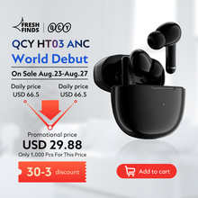 QCY HT03 TWS ANC Fone Bluetooth Earphones Noise Canceling Wireless Headphones Gaming Headphone With Microphone Handfree Ear Bud