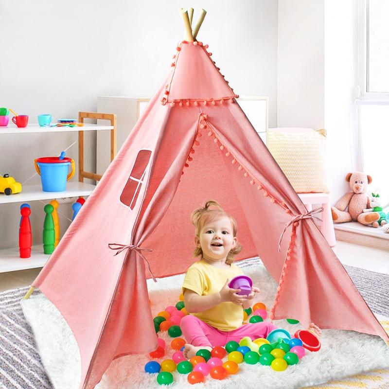 1.3/1.6m Portable Children's Teepee Tents For Kids Play House Wigwam Park Children Tipi Infantil Baby Games Playpen