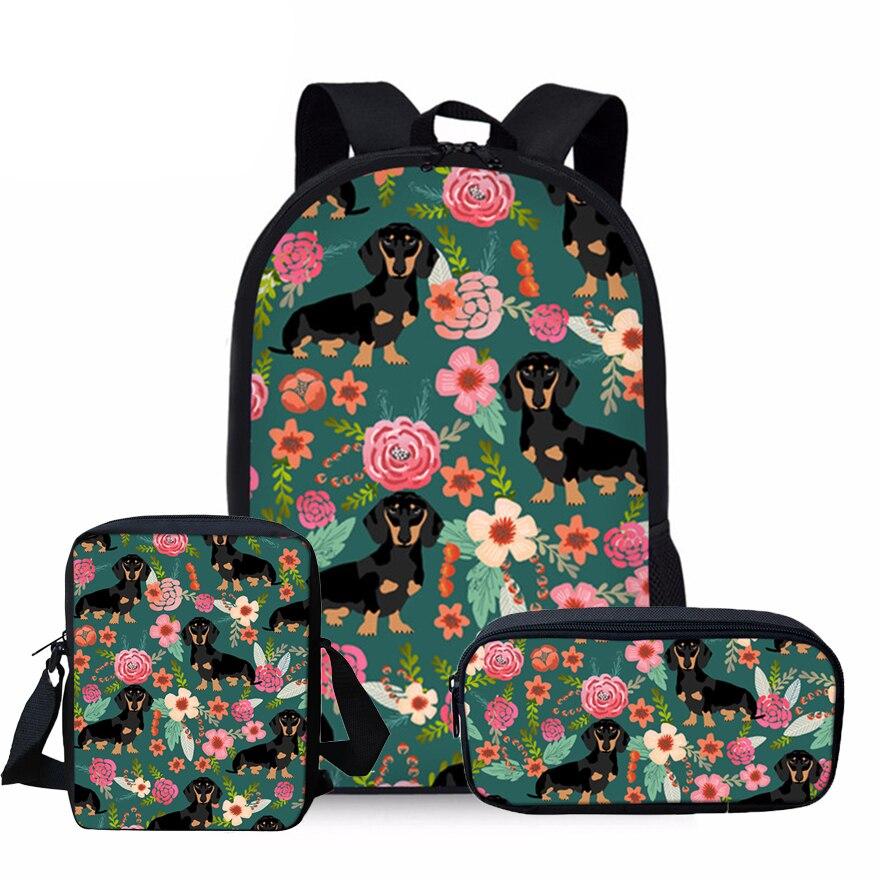 pug dog husky printing backpack for children girls School Backpack Doxie Dog Dachshund Printing Schoolbag Kids Backpack School Bags for Girls Orthopedic Satchel Boys