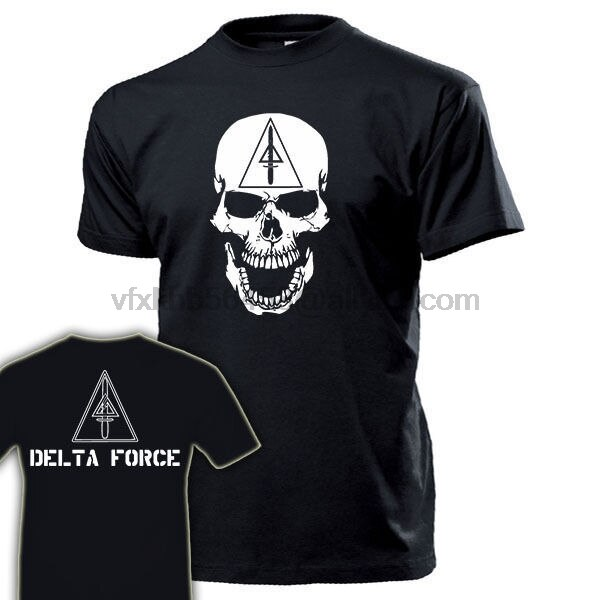 Camiseta de algodón de verano 2019 DELTA FORCE USA Schadel Abzeichen emblema Wappen Elite-Camiseta de moda