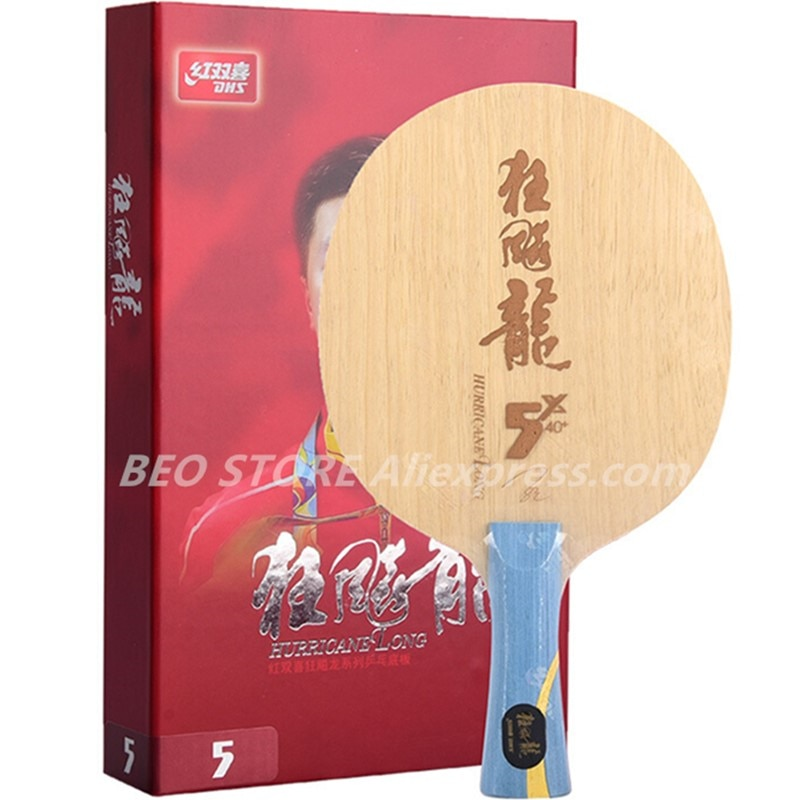 DHS Hurricane Ma Long 5X Table Tennis Blade 5+2 Arylate Core Thicker Pith+ 0.5mm Professional Racket Original DHS Ping Pong Bat