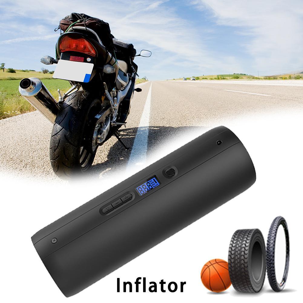Mini bicicleta portátil automático de la bomba inflador multifuncional de la bomba eléctrica de la bicicleta de montaña de coche bola inflar ciclismo accesorio