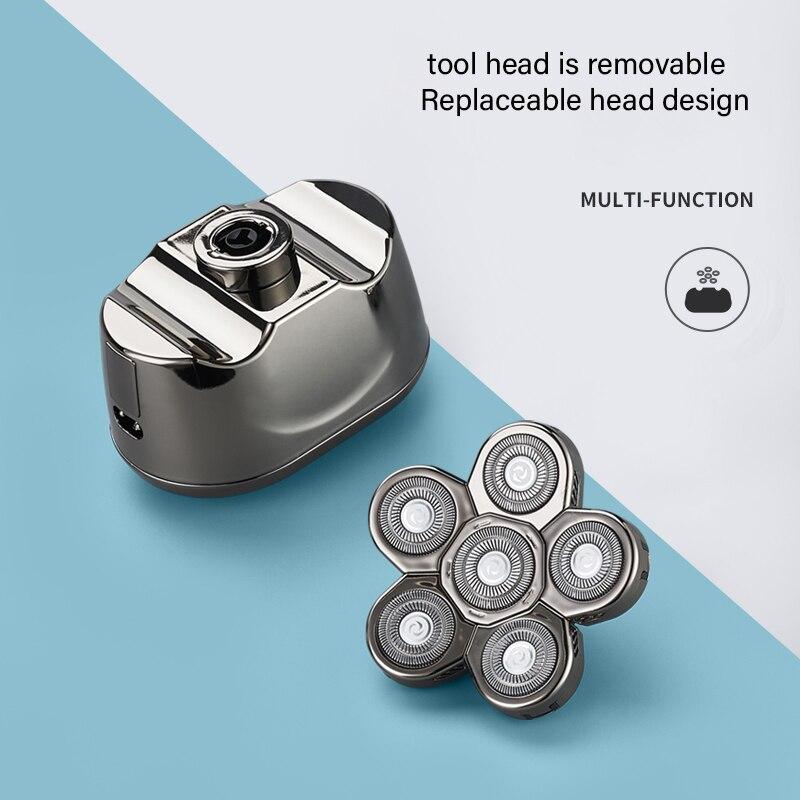 Multi Grooming Kit Digital Display Electric Shaver Hair Trimmer Beard Razor Wet Dry Men Facial Body Shaving Machine enlarge