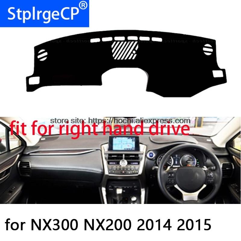 Para lexus NX300 NX200 right hand drive mat painel almofada Protetora carro-styling Interior Reequipamento Mat adesivo preto Vermelho produtos