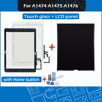 For iPad Air A1474 A1475 A1476 Touch Screen Digitizer Outer Glass with Home button + LCD screen panel Replacement