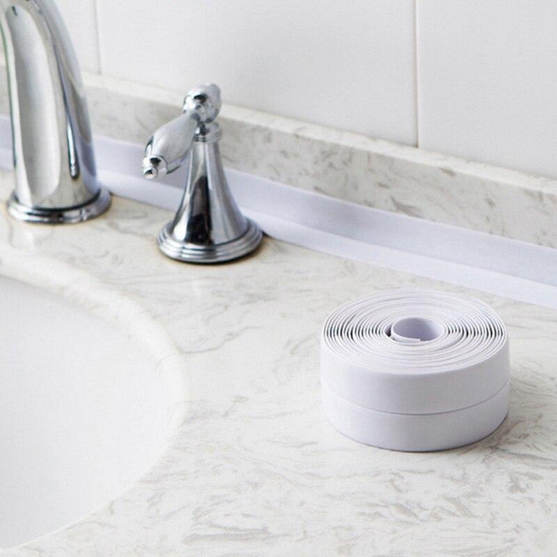 3.2mx2.2cm Sealing Strip Bathroom Shower Sink Bath Caulk Tape PVC Self Adhesive Waterproof Wall Sticker For Bathroom Kitchen