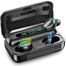 F9 Bluetooth Earphone TWS True Wireless Headphones 9D Stereo Sport Touch Headset Mini Earbuds with M