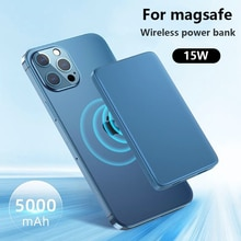 10000mAh Power Bank 15W Magnetic Wireless Fast Charger For magsafe powerbank Mobile Phone battery Fo