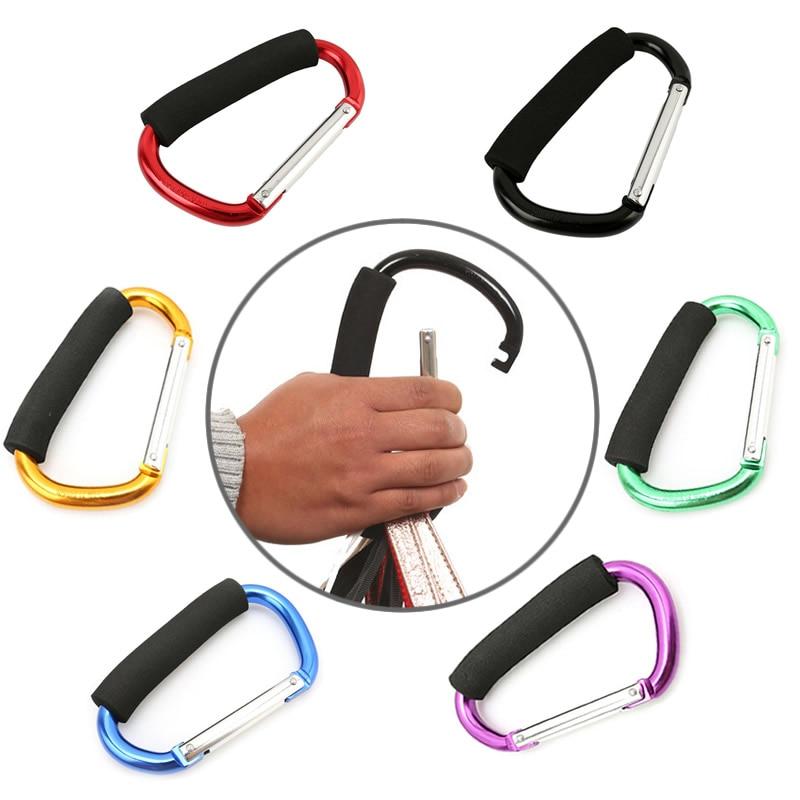 Большие размеры, Алюминиевые крючки для детской коляски, кнопки, карабины, сумки для покупок, крюки для перевозки колясок, сумки для колясок