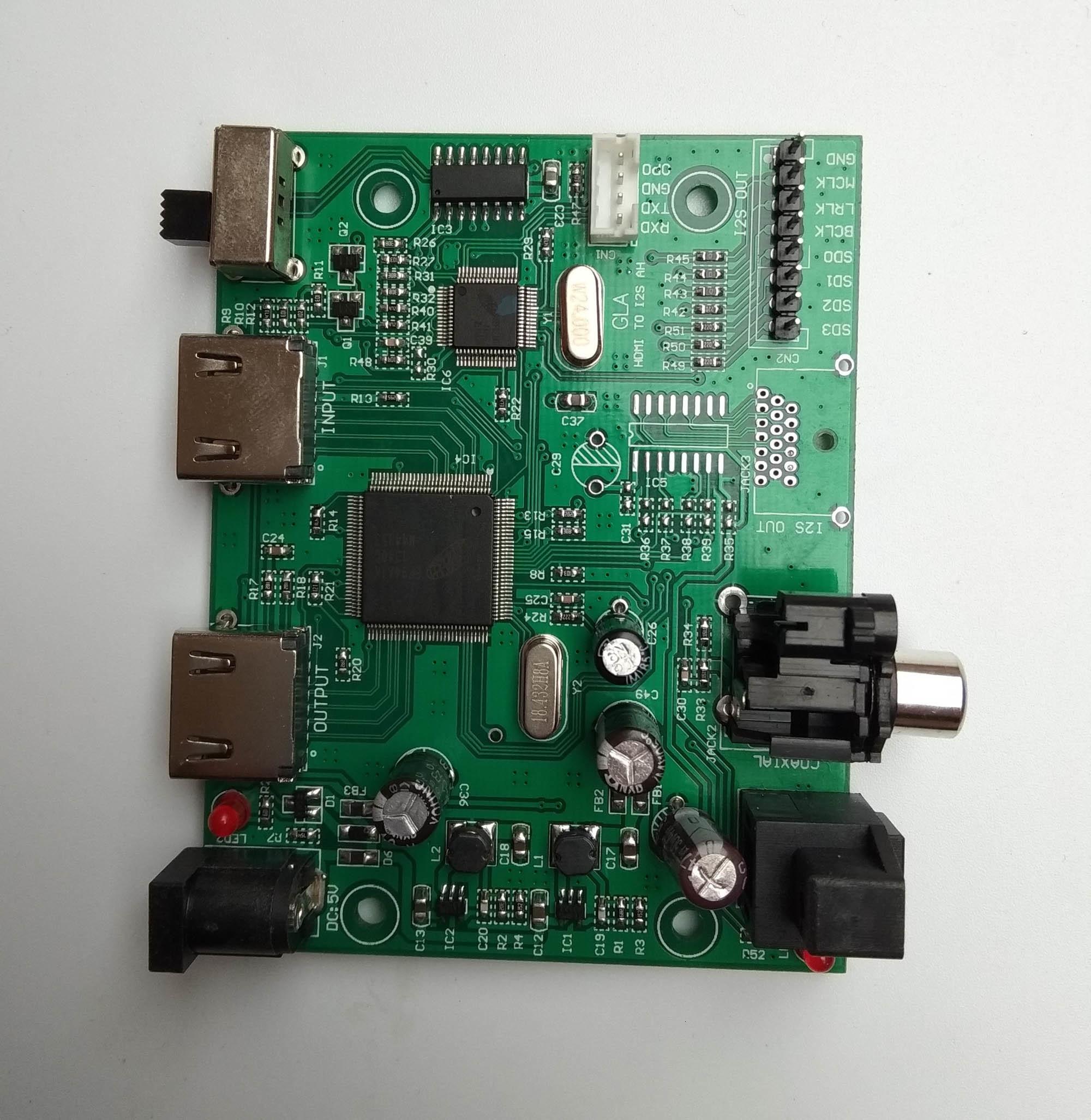 HDMI 分割エキスオーディオ 7.1 チャンネル I2S/DSD/HBR/繊維/同軸 (HDMI に I2S/ IIS)