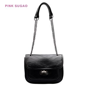 Pink Sugao Women Purse luxury handbags women bags designer chain bag leather shoulder bag women tote bag purses and handbags