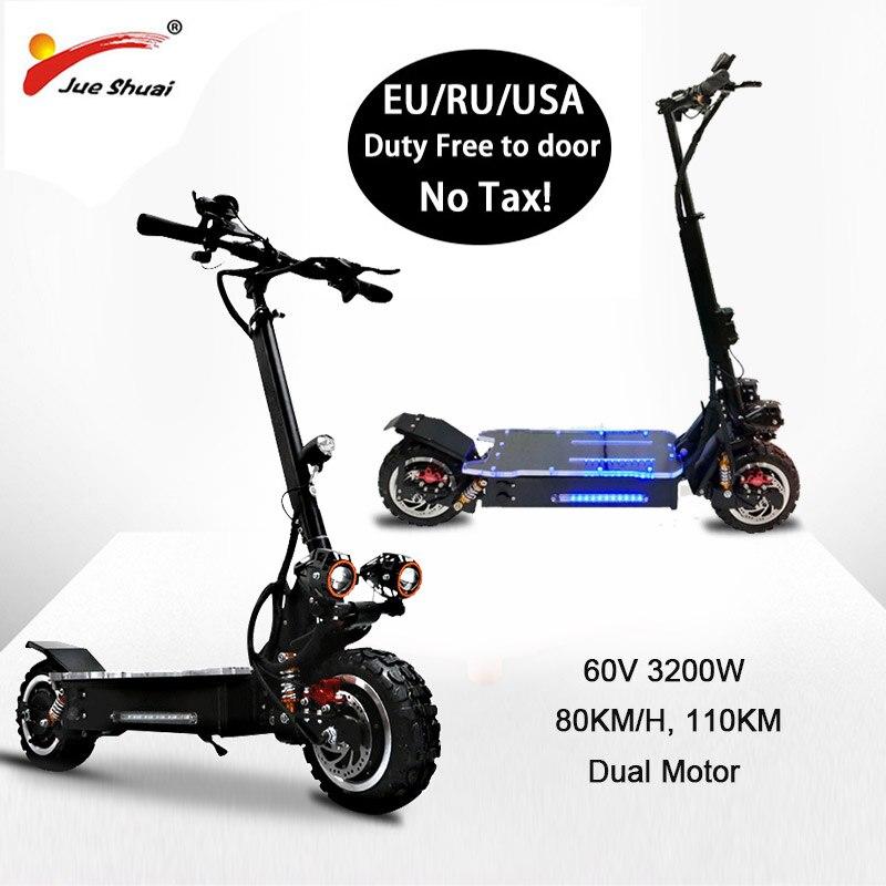 Patinete eléctrico de alta velocidad para adultos, Scooter Eléctrico plegable, todoterreno, 80...
