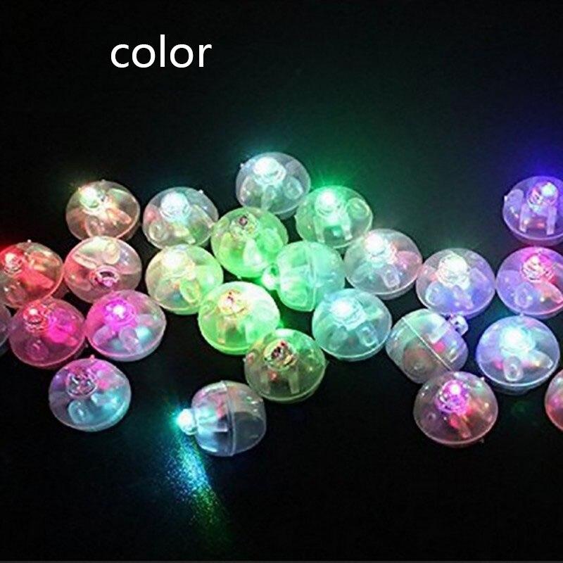 Luces LED para Globo de bolas redondas, 10 Uds., Mini lámparas luminosas para linterna, Bar, decoración para Navidad, fiesta de boda 1