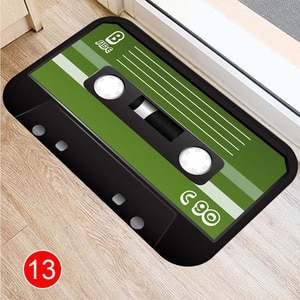 Newly Audio Tape Pattern Floor Mat Carpets Floor Rug Kitchen Living Bathroom Non-slip Backing HG996