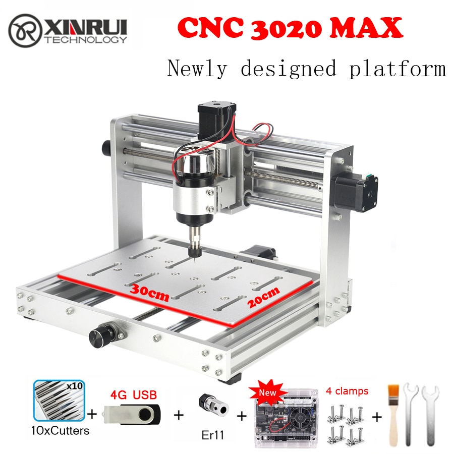 CNC 3020 pro MAX GRBL control 200w 3 Axis DIY pcb Milling machine Wood Router support laser engraving