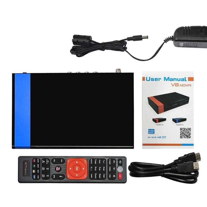 Receptor gtmedia v8 nova built-in wifi power por freesat v8 super DVB-S2 1 ano cccam cline para 1 ano caixa de tv