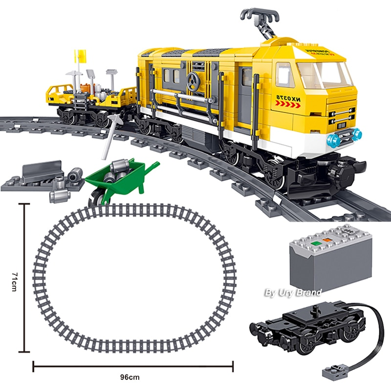 Technic Series Railway Maintenance Train Building Blocks Toys Tracks Motor Creators City Children's