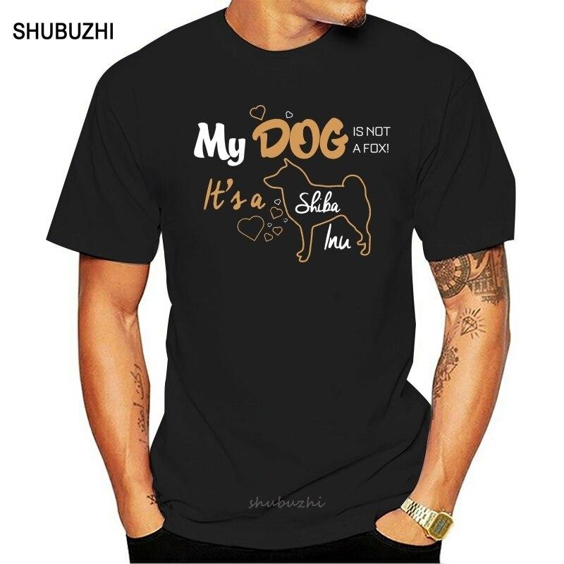 Mi Shiba Inu camiseta única Casual de algodón para hombres cuello redondo Camiseta de manga corta de perro de Japón