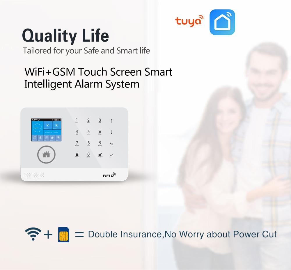 PGST PG103 Tuya Wifi GSM Alarm System Wireless Burglar Home Security System with RFID Card Motion Sensor APP Remote Control enlarge