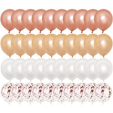 Ensemble Confetti de ballons or Rose 20 pièces   ballon chromé, ballons métalliques, déco fête danniversaire, mariage, anniversaire de mariage
