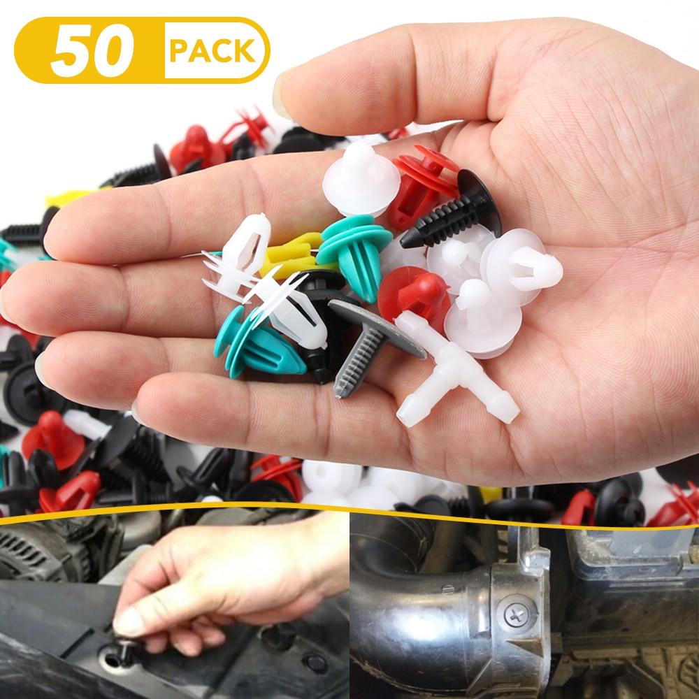 50 Uds., guardabarros de parachoques de coche, remache especial de nailon para Nissan qashqai Livina TIIDA Sylphy, Clips de fijación interior de coche