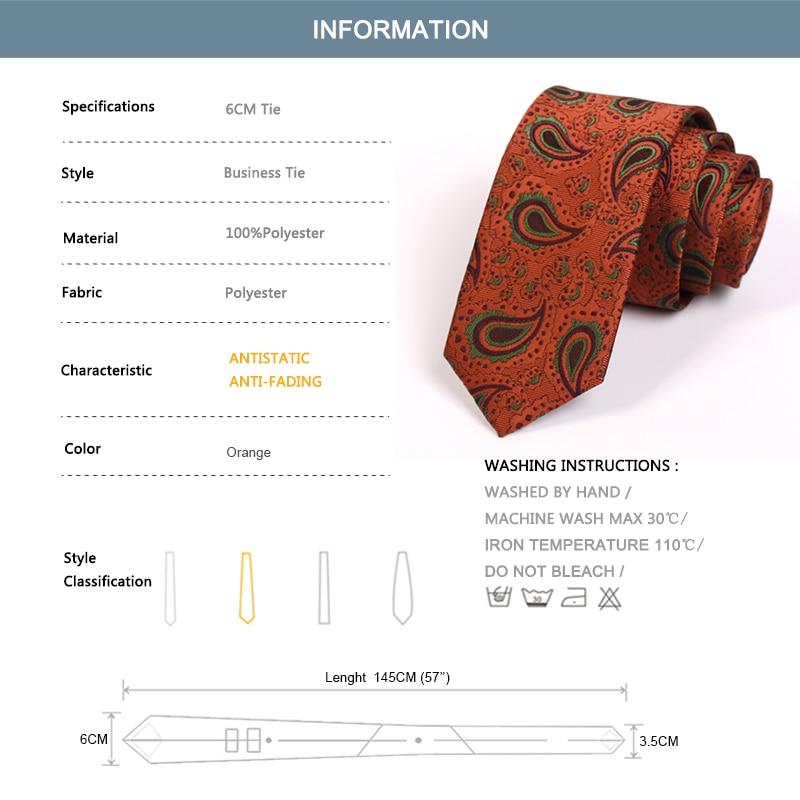 New Design Groom Wedding Party Tie High Quality 6CM Orange Ties For Men Business Suit Work Necktie Fashion Formal Slim Neck Tie