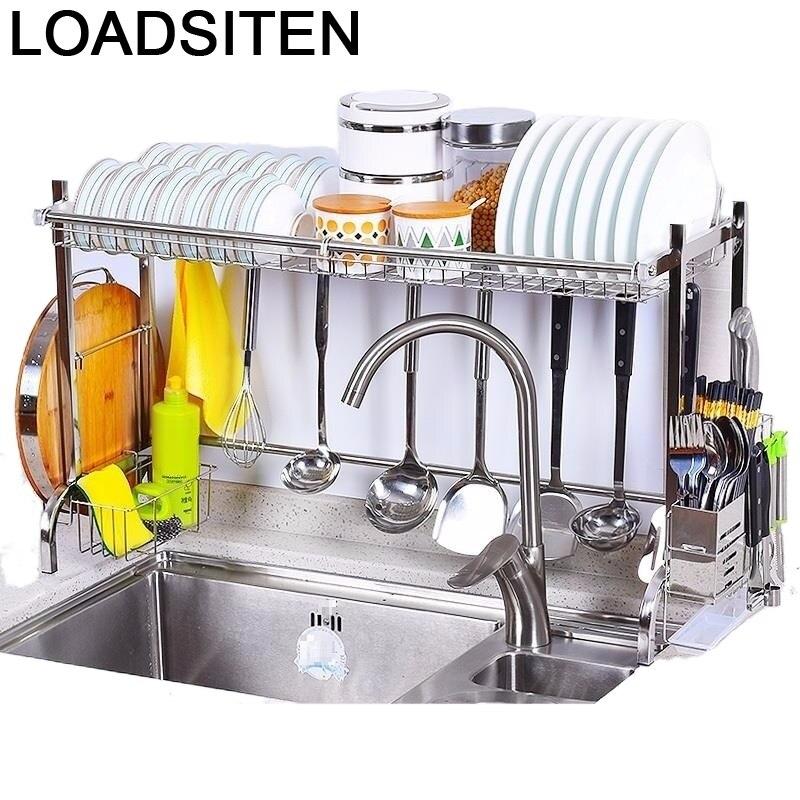 Platos Dish Sponge Holder Keuken Cosas De Sink Stainless Steel Cocina Organizador Rack Cuisine Cozinha Kitchen Organizer