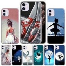 Ballet Dancer PC Hard Back Cover For iPhone 11 Pro X XS Max XR 7 7Plus 8 8Plus 6 6s Plus SE 2020 Plastic Phone Case Couqe Fundas