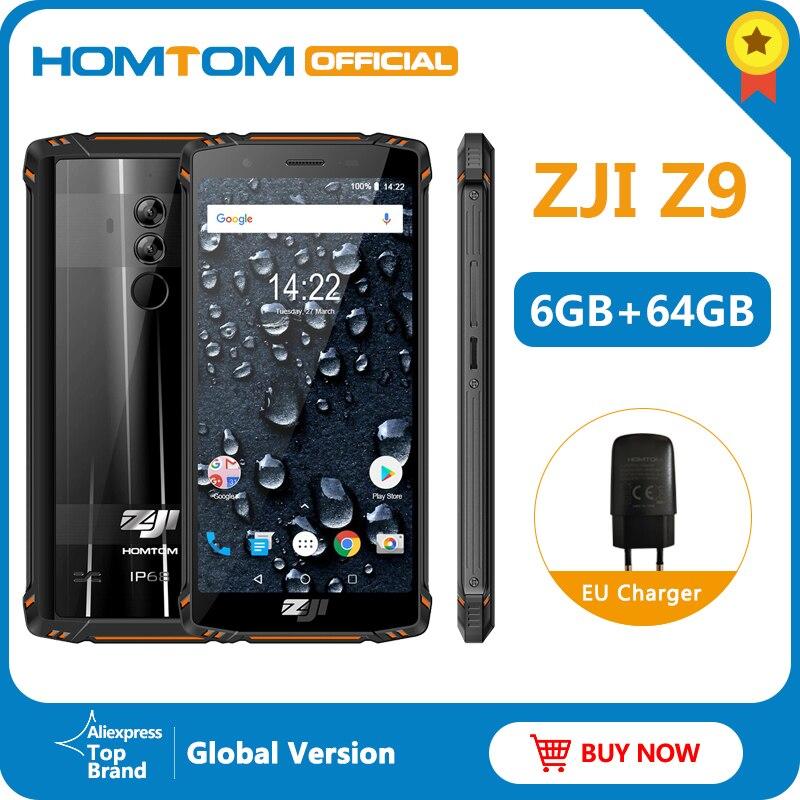 Teléfono Móvil banda completa HOMTOM ZJI Z9 Helio P23 IP68 impermeable 4G LTE 5,7 pulgadas 6GB + 64GB ROM 5500mAh