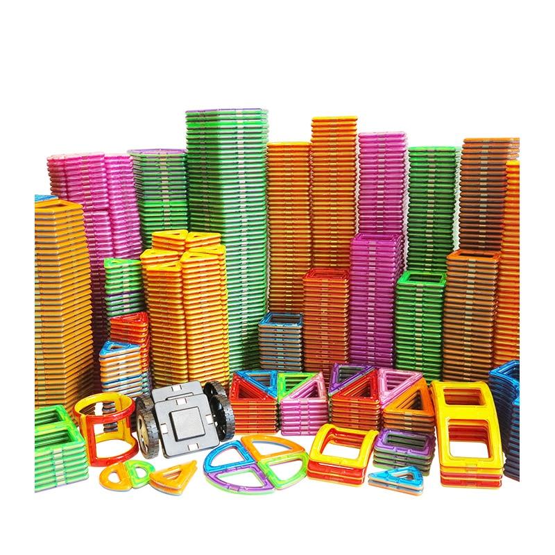 2 PCS/SET Big Size Magnetic Designer Magnet Building Blocks  Accessories  Educational Constructor Toys For Children