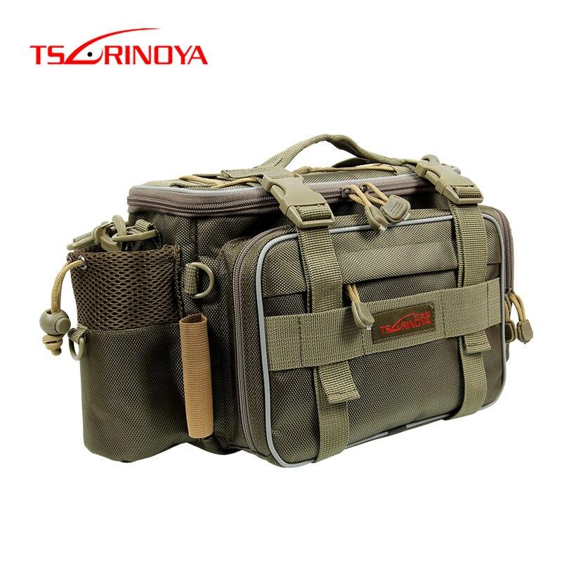 Tsurinoya 40*15*19cm 3 cores multifunction lona pesca saco pacote de pesca da carpa para ferramenta enfrentar isca vara bolsa de pesca