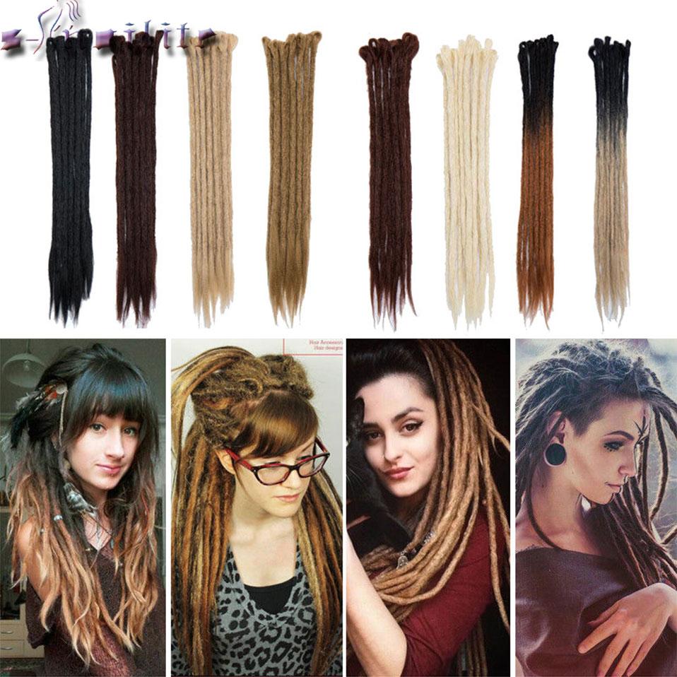 s-noilite Dreads Handmade Dreadlocks Extensions Reggae Crochet Hip-Hop Synthetic Dreads Crochet Braiding Hair