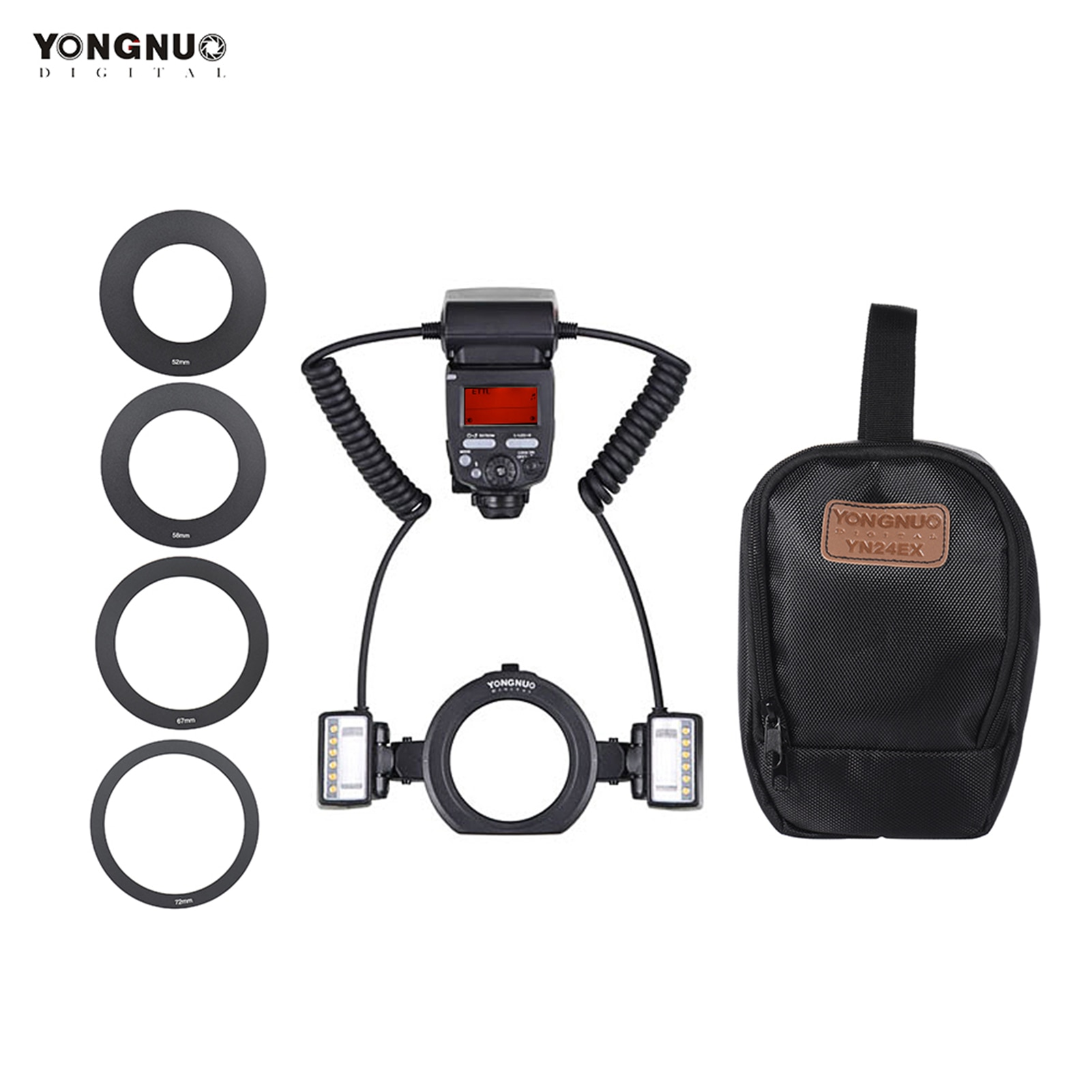 YONGNUO YN24EX E-TTL ماكرو فلاش Speedlite 5600K لكانون EOS 1Dx 5D3 6D 7D 70D 80D كاميرات Speedlite