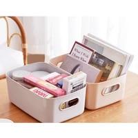 portable storage basket with handle large capacity sundry storage box snack cosmetic organizer household storage supplies