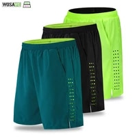 wosawe men padded baggy cycling shorts reflective mtb bike bicycle riding trousers water resistant loose elastic fit shorts