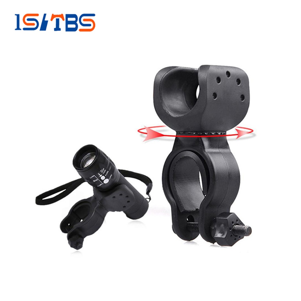 Flashlight Mount Holder Plastic Metal Material Rotate 360 degrees LED Flashlight Accessories Apply 2