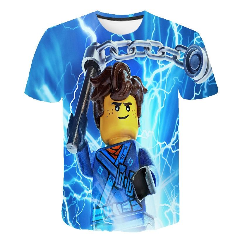 Topy i koszulki nowe letnie 3D Lego Ninja dziecko T-shirt ubrania Anime dzieci chłopcy Ninja ubrania Ninjago t shirt dzieci odzież 2020