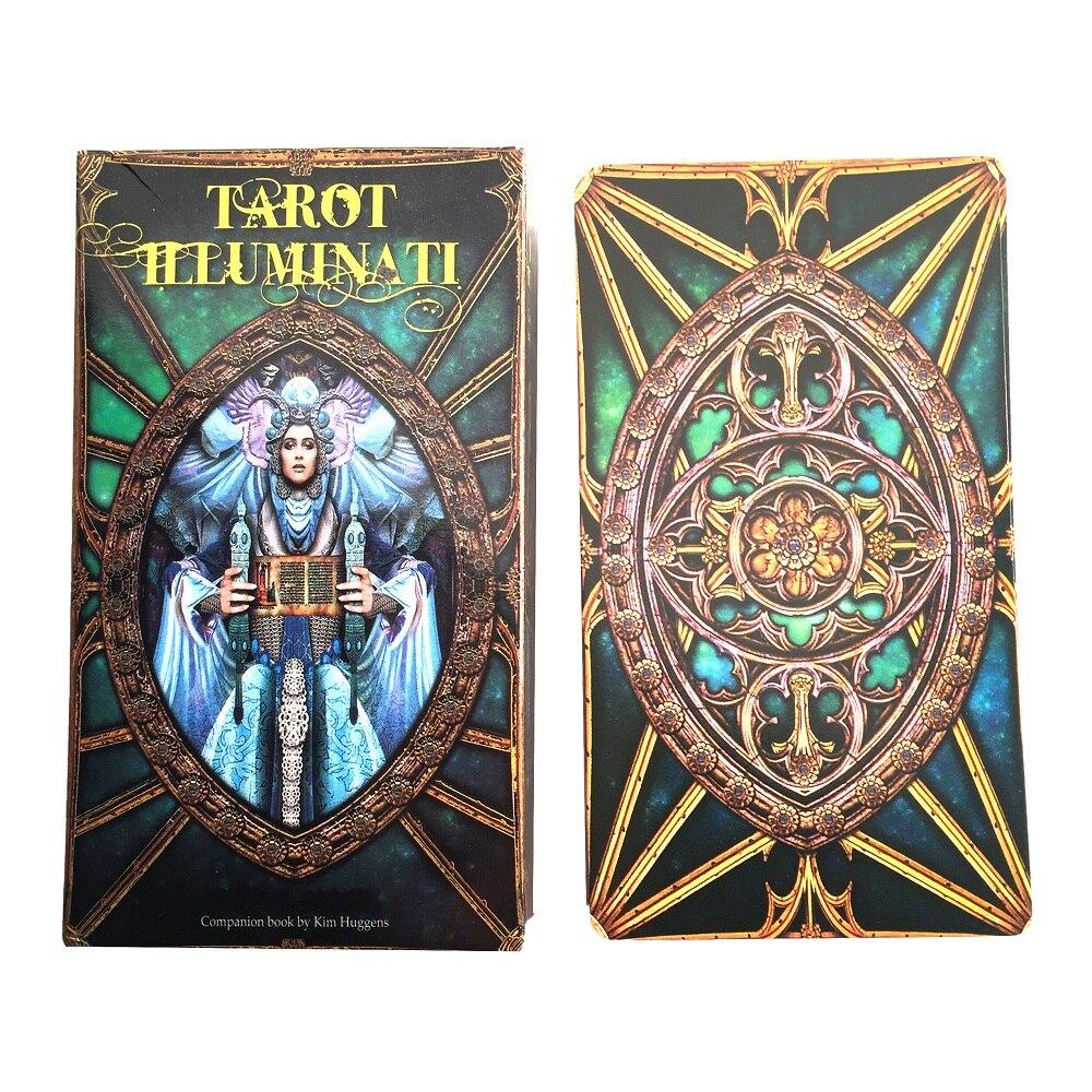 Oracle Tarot Illuminati Kit de cubierta de Tarot Tarjeta de Oracle placa Cubierta juegos Palying tarjetas de juego