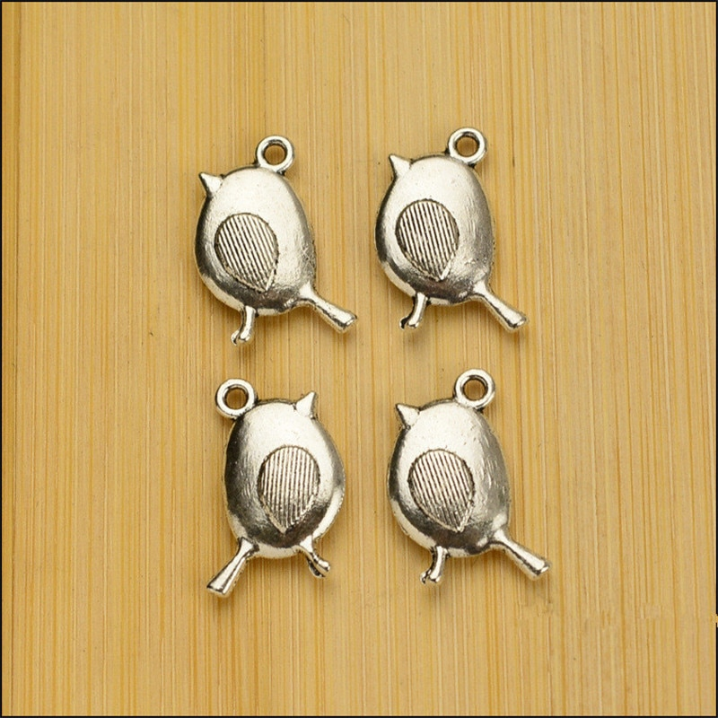 10 Fashion Cute Cartoon Bird Charms for Necklace Earring Charms 19.5*11.5MM Bracelet Jewelry Handmade  - buy with discount