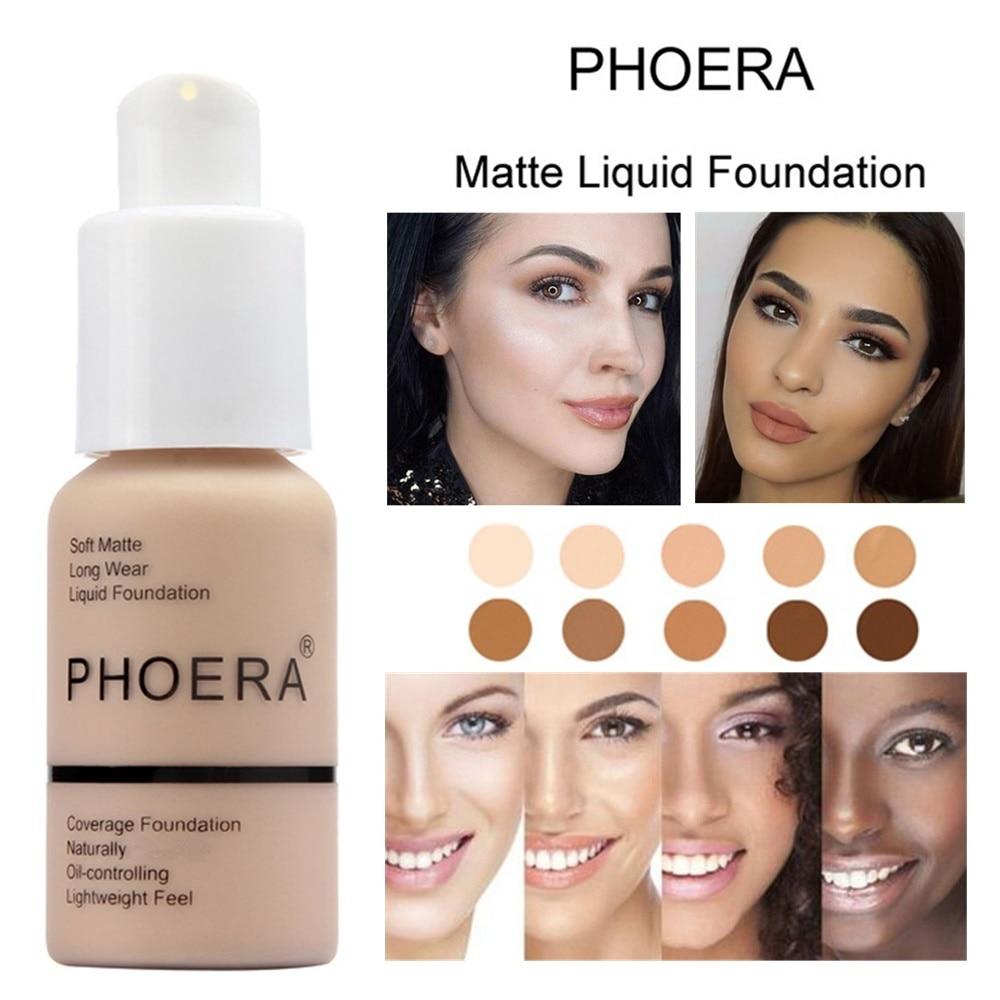 Base de maquillaje para rostro perfecta, Base para rostro de 30ml, cobertura completa, Base líquida suave mate, Control de aceite de crema, corrector de larga duración