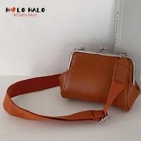 niche wide strap women desiger shoulder bags for female fashion elegant solid color pu leather handbags and purse 2021