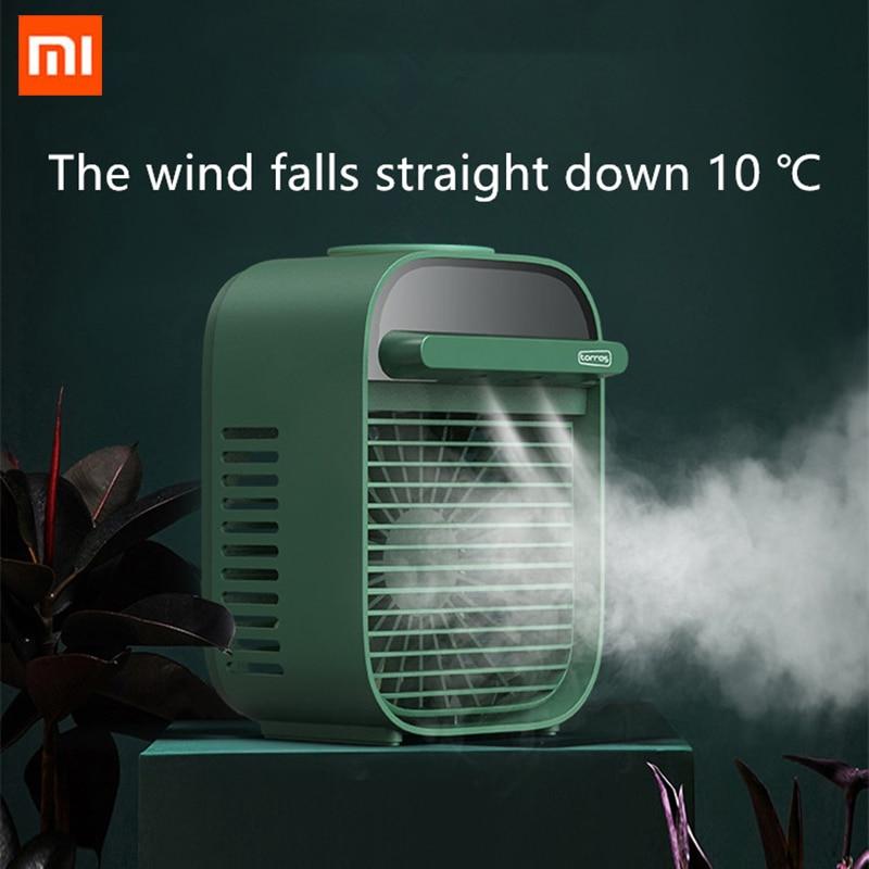 Novo xiaomi mini portátil aic condicionador multi-função umidificador purificador usb desktop aic cooler fan com tanque de água em casa