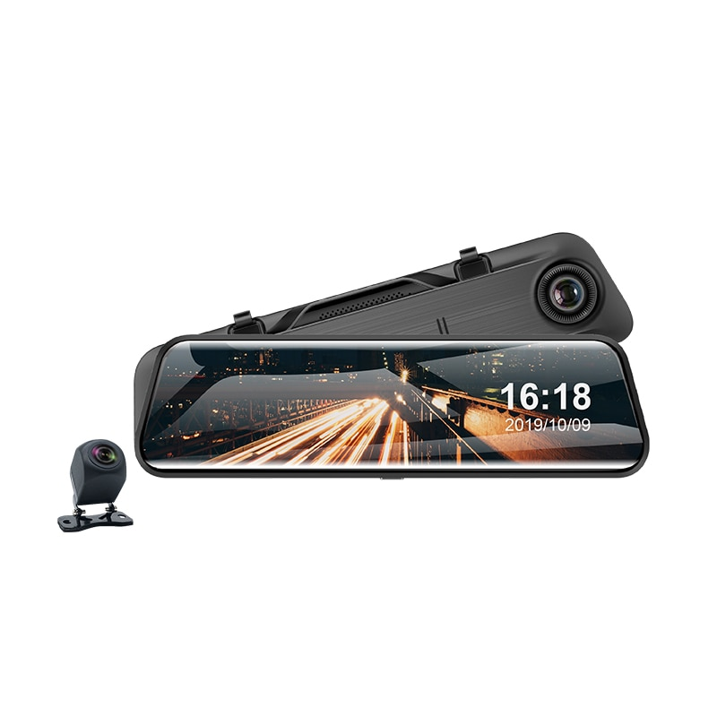 Pioneer 11.66 Inch Touch Screen 2k Mirror Rearview Car Recorder FHD Dual 1080P Lens