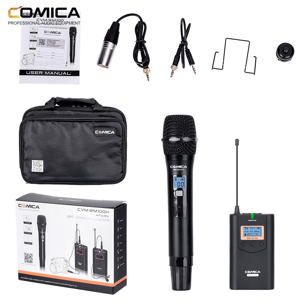 COMICA CVM-WM100 المهنية UHF 48 قنوات متعددة الاتجاهات اللاسلكية Lavalier ميكروفون لكانون نيكون سوني DSLR كاميرات