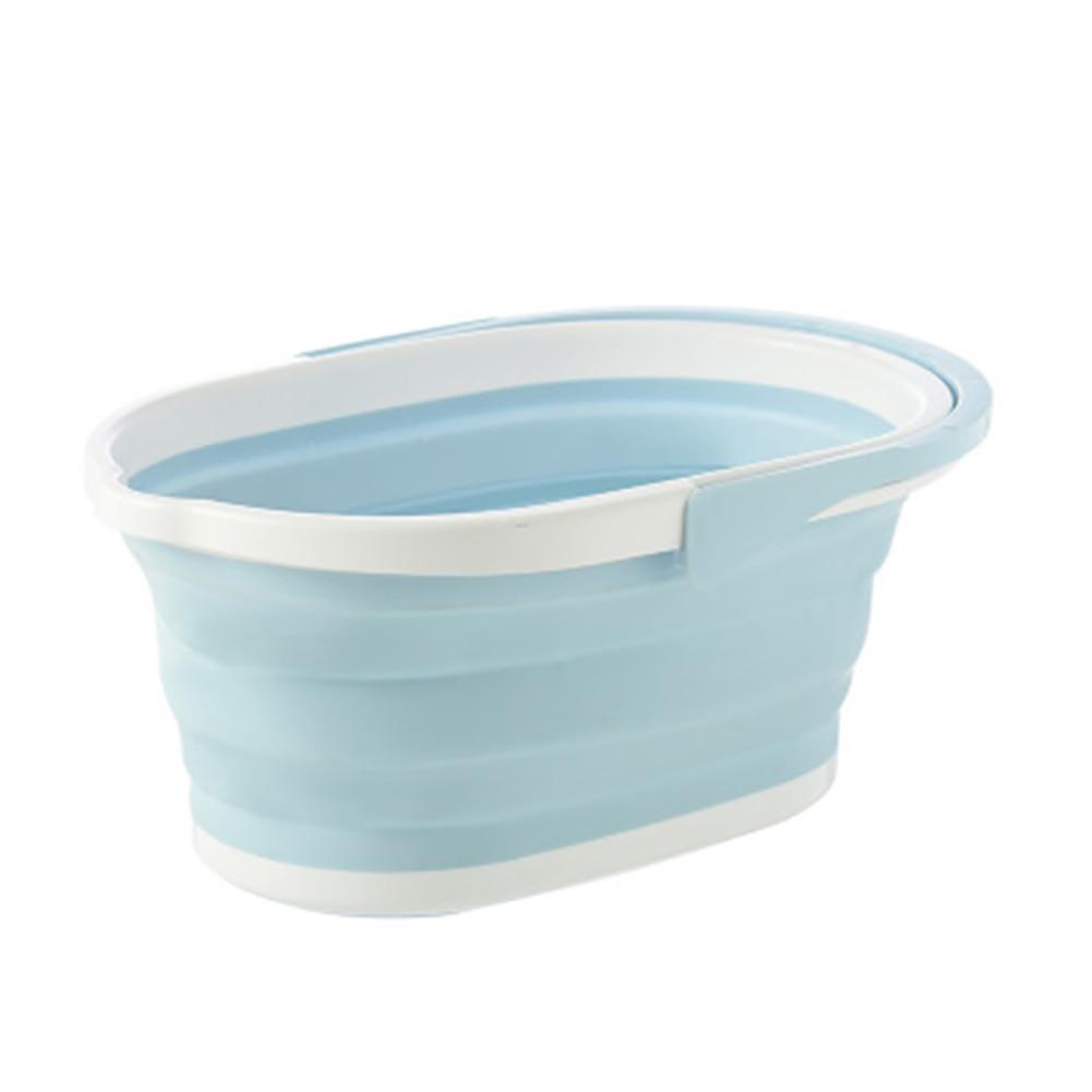 Plegable Cubo de fregona plegable lavado portátil cuenca Dishpan con mango para al aire libre PI669