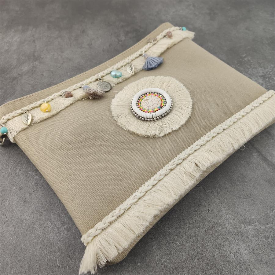 New Fringe Vintage Women Cloth Handbags Designer Boho Hand Bag Small Tassel Stud Women Messenger Bag Luxury Purses