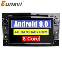 Eunavi 2 Din Android 9.0 voiture DVD Radio stéréo multimédia pour Opel Corsa Vectra CD Meriva Vivaro Tigra Signum GPS Navigation 4 go