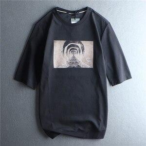 Men's T-shirt Spring / Summer 2020 New T-shirt Round Neck Short Sleeve Korean Trend Slim Black Half Sleeve Men