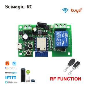 Tuya Ewelink wifi Switch Smart 1CH Relay Module DC5V 12V 24V Self-locking RF433 Receive WI-FI Garage Door Opener Work with Alexa